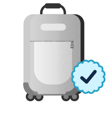 Large suitcase luggage icon