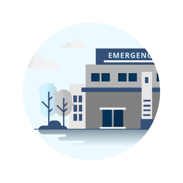 Illustration of an emergency medical facility