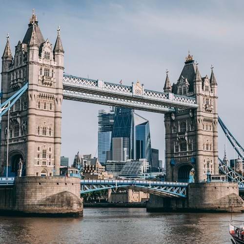London skyline bridge