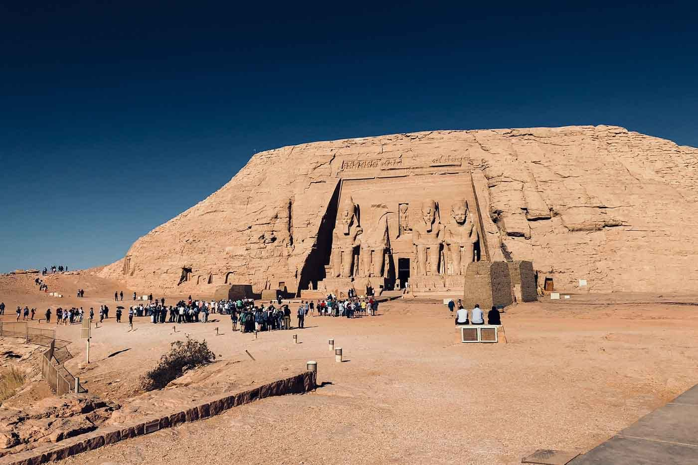 Photo of people on tour of Abu Simbel Temples in Egypt
