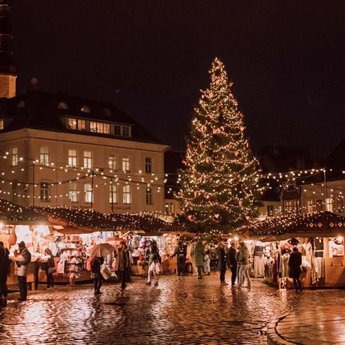 Photo of Christmas market