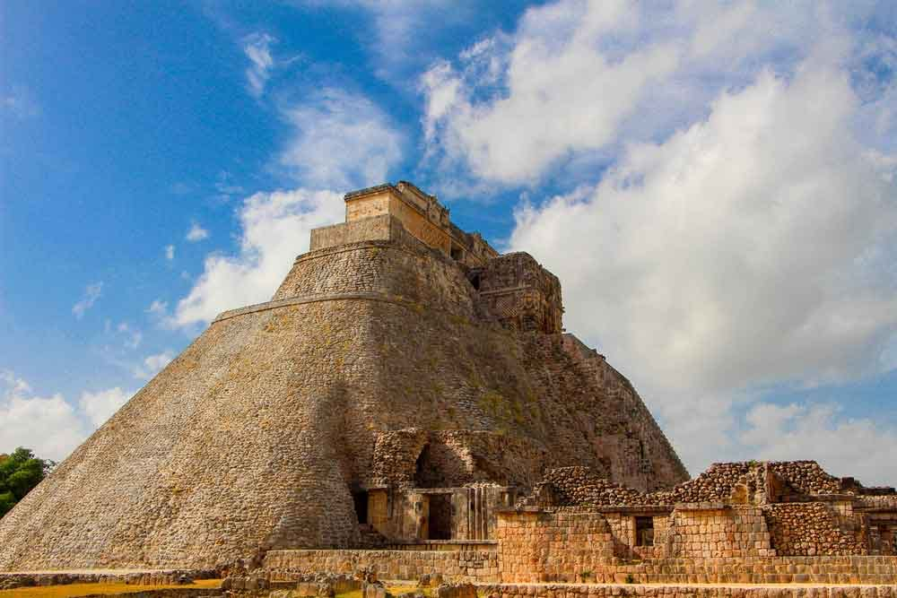 Photo of historical ruins in Uxmal, Yucatan, Mexico