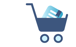 "Chapter 7 of ""What is Travel Insurance All About"" guide, icon of shopping cart with insurance policy inside"